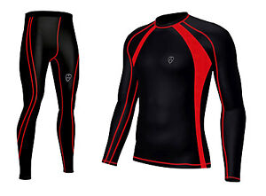 Mens-Compression-Base-layer-Top-amp-legging-running-Skin-Fit-Breathable-Top