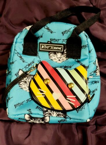 Betsey Johnson Cat-Themed Bag + Coin Purse - image 1