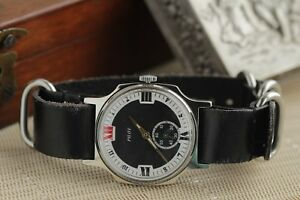 Rare-Pobeda-Pilot-Watch-Mechanical-Wristwatch-New-Leather-Strap