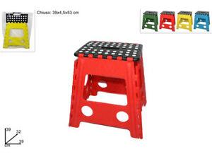 Sgabello Scaletta Pieghevole.Dettagli Su Sgabello Scaletta Pieghevole Plastica Per Cucina Bagno Bambini Adulti Vari Color