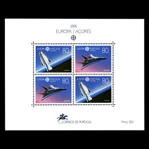 Azores-1991-EUROPA-Stamps-034-Space-Travelling-034-s-s-Sc-396-MNH