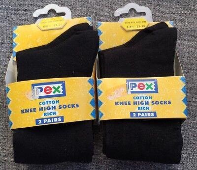 Girls PEX Patterned Cotton Knee High Socks