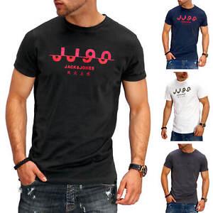 Jack-amp-Jones-T-Shirt-Hommes-O-Neck-Print-Shirt-manches-courtes-Shirt-Casual-streetwear