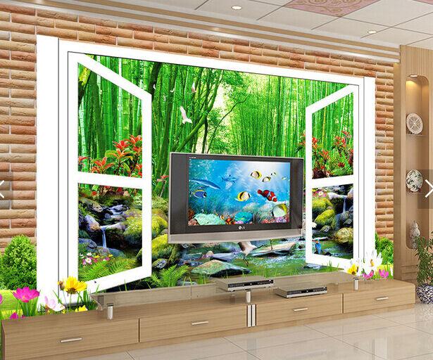 3D Bäume, bluemen, Vögel 133  Fototapeten Wandbild Fototapete BildTapete Familie