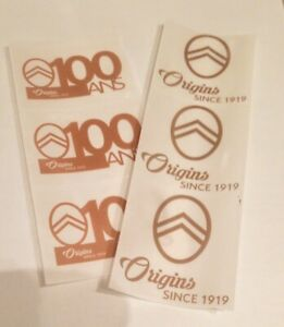 Lot-de-6-Stickers-Autocollants-100-ans-CITROEN