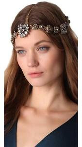 Erickson-Beamon-Ice-Age-Hair-Headpiece-Antique-Dirty-Gold-Swarovski-crystals-NEW