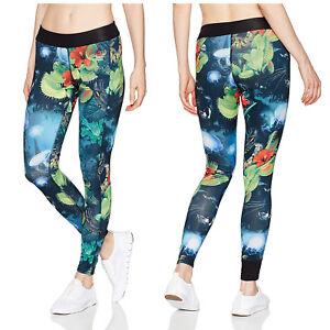 Reebok croosfit Sports Leggings Girls Running Pants Training Pants Tight Blue//White
