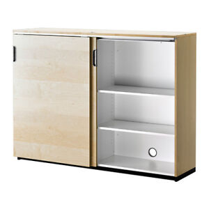 IKEA Galant Cabinet Storage Unit w/ Sliding Doors Office ...