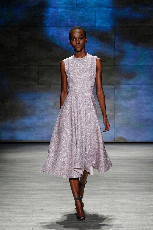 fb3664de1fe1 1595 New LELA pink Shimmery purpleC Metallic Tweed GODET Flared Dress 4 6 8  12 bf0ca5