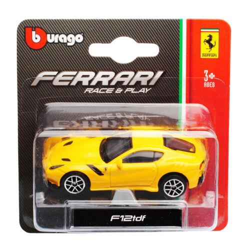 Bburago 56000 Ferrari F12tdf gelb Maßstab 1:64 Modellauto NEU °