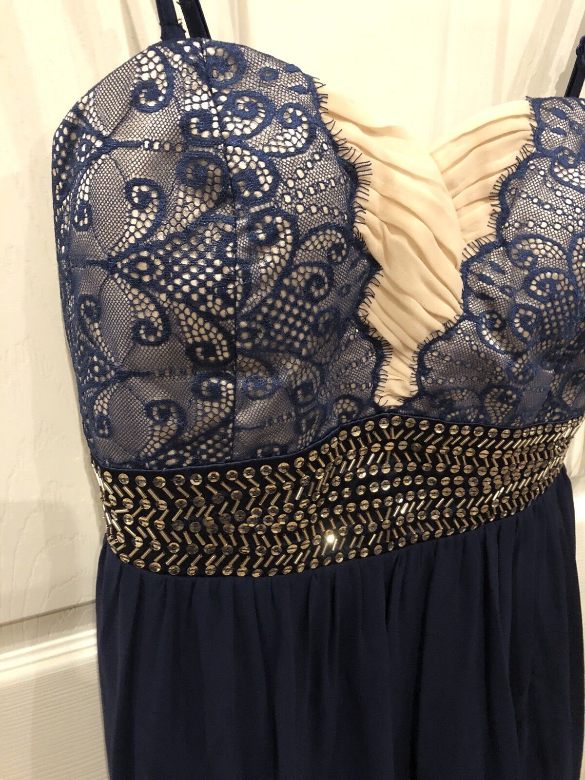 Navy And Nude Lace Evening event Dress Size 14 BNWT
