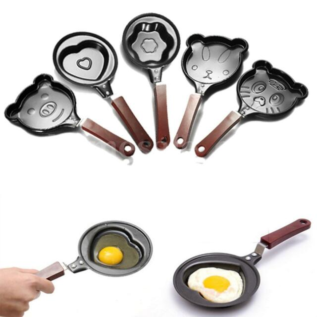 Mini Cartoon Egg Pan Outdoor Kitchen Non-stick Poacher Pot Mold Cookware Pancake