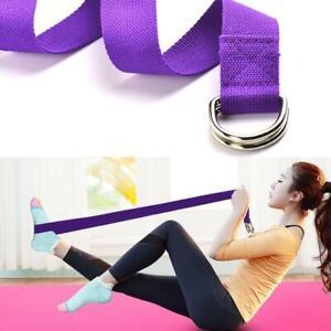 Ring-Cotton-Yoga-Stretch-Strap-Training-Belt-Leg-Fitness-Exercise-Gym-Athletic
