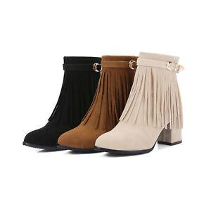 Zu Boots Winterschuhe Ankle Damenschuhe Wedge Details Gr 34 48 Fransen Stiefeletten Plateau 8OPn0wk