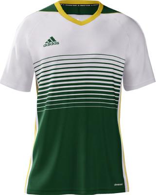 Adidas Men's mi Tiro 17 Short Sleeve Soccer Jersey Green White | eBay