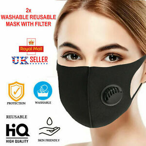 2x Adjustable Reusable Protective Anti Dust Face Mask Filter Washable Breathable Ebay