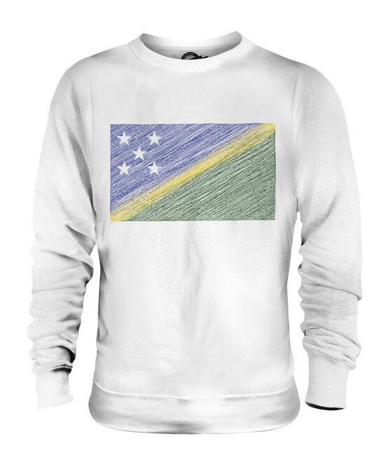 SOLOMON ISLANDS SCRIBBLE FLAG UNISEX SWEATER  TOP GIFT SOLOMON AELAN FOOTBALL