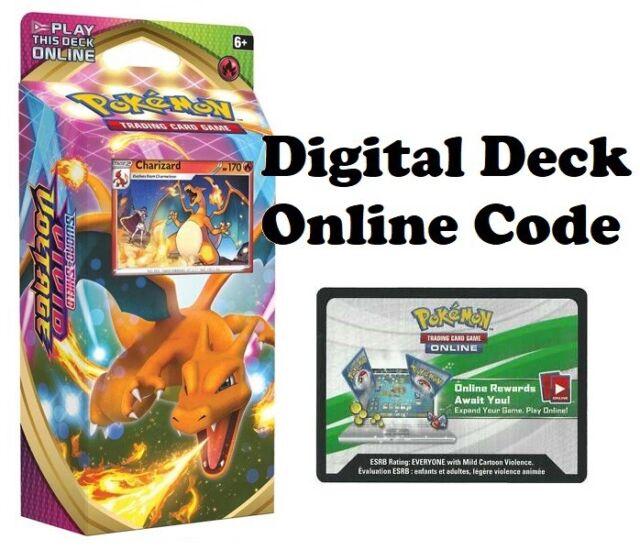 Pokemon TCG Vivid Voltage Online Charizard Theme Deck Digital Redemption Code