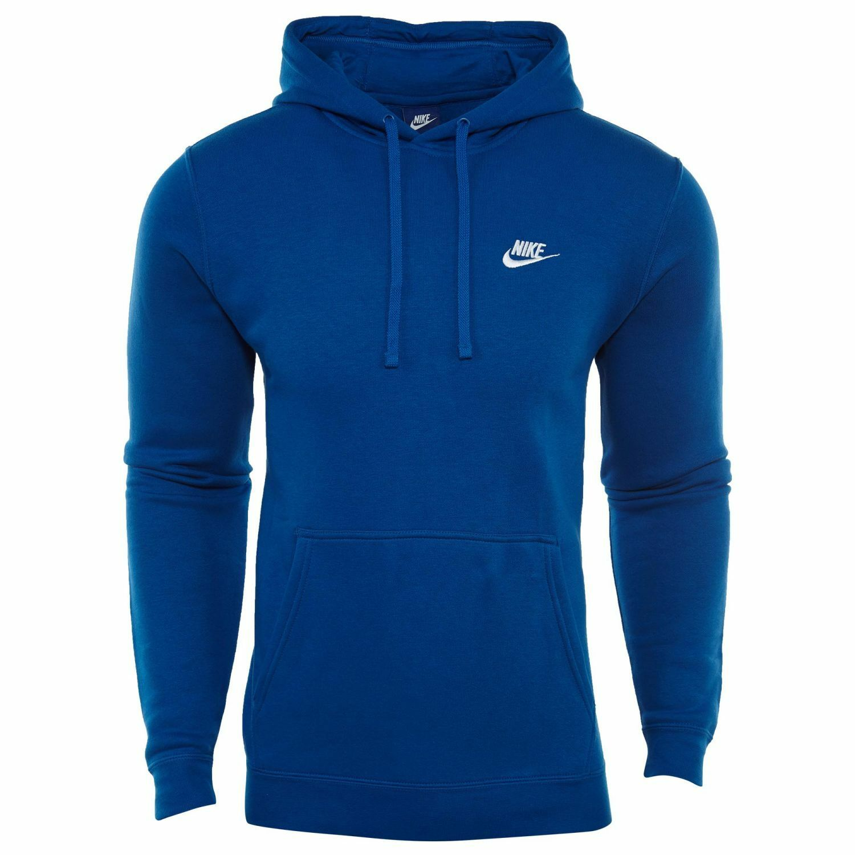 Nike Nsw Club Pullover Fleece Hoodie Mens 804346 433 Burnt Blue Hoody Size XL