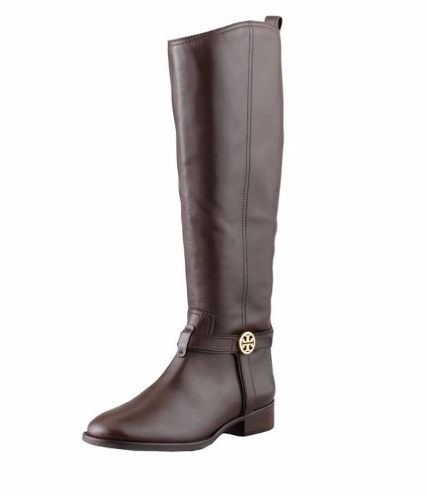 Tory Burch boots shoes Bristol coconut almond riding equestrian 8.5