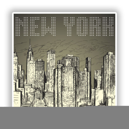 2 X Pegatinas De Vinilo New York Skyline viaje equipaje #7748