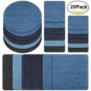 20-PCS-Iron-On-Elbow-Knee-Denim-Jeans-Patches-DIY-Sewing-Appliques-Decor-Repair