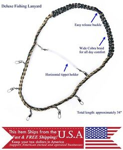 image is loading fishing lanyard with tippet holder for fly fishing