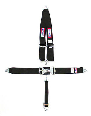 RaceQuip 711001 Black Race Car Seat Belts 5 pt SFI Safety Harness IMCA NHRA UMP