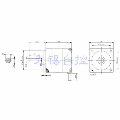 20BYGH NEMA8 1.8 Degree 20mm 2-Phase 4-Wire Hybrid Stepper Motor CNC 3D Printer