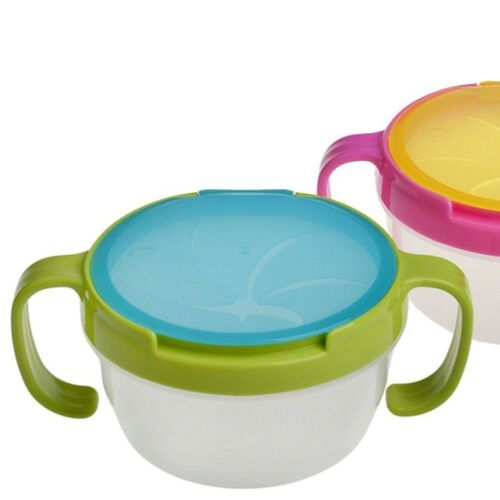 Snack Plate Food Child Cup Toddler Baby Feeding Bowl Container Tableware