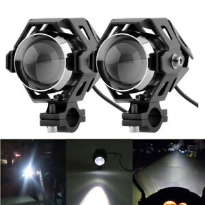 Pair Motorc Driving Fog Lamp Headlight Super Bright Cree U5 Led Spot Light 125w Ebay