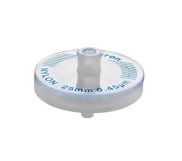 Omicron New Syringe Filters 25mm, 0.45 um, Nylon Hydrophilic Non Sterile 10/Pk