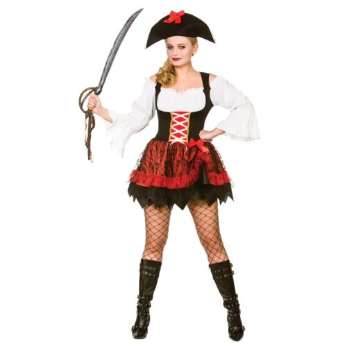 Charming Pirate Ship Island Fantasy Gamour Adults Womens Fancy Dress Costume