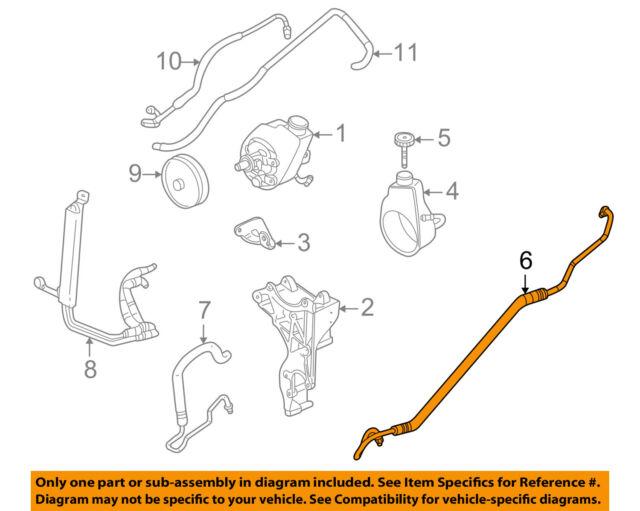 s l640 gm power steering pressure hose oem 15295857 hummer h2 ebay