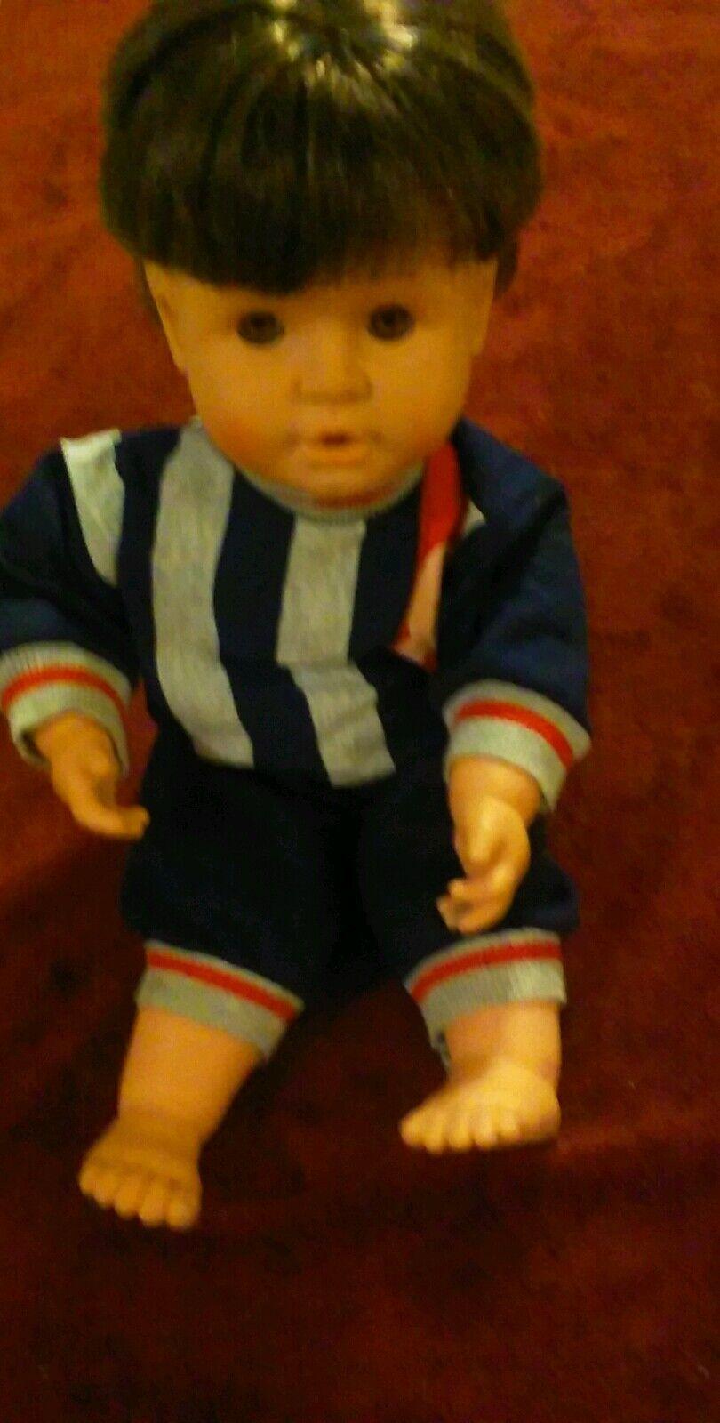 Feber Bewegliche Baby Junge Puppe Vtg 27.4ms
