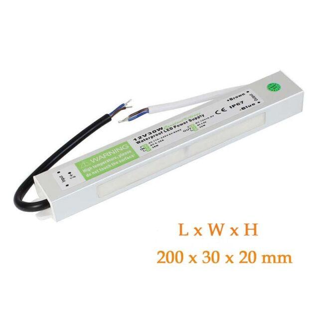 IP67 12V DC 30w 2.5A 230v Waterproof Power Supply for LED Driver Strip CCTV