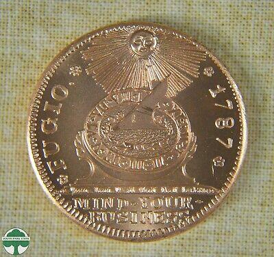 1793 CHAIN CENT DESIGN HALF OUNCE .999 COPPER ROUND THE PATRICK MINT