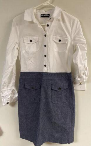 Karl Lagerfeld Shirtwaist Cotton & Cotton/Linen Sh