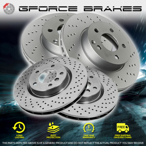 00-05 Beetle 1.8L Turbo 288mm F+R Drilled Rotors for