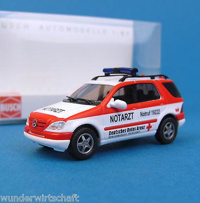 Busch H0 48514 MERCEDES M-Klasse DRK Rotes Kreuz Notarzt NAW MB OVP HO 1:87 box