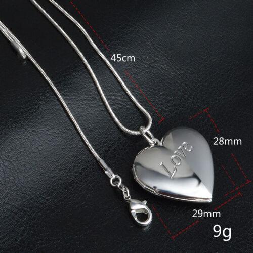 925 SILBER Medaillon zum öffnen Foto Herz für 2 Foto Anhänger Amulett Medaillon