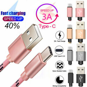 USB-C-3-1-Type-C-Fast-Charging-Cable-Data-Charger-For-Xiaomi-Redmi-Note-7-7-Pro