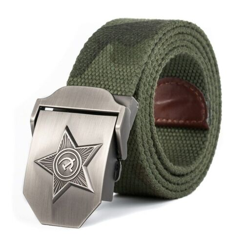URGENTMAN® Belt Men /& Women HigQuality 3D Five Rays Star Military Old CCCP Army