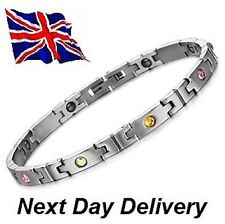 Hematite Energy Power Bracelet Health Bio Armband wristband Bangle Cuff Magnetic