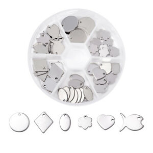60pcs-box-304-Stainless-Steel-Mixed-Shape-Blank-Stamping-Tag-Pendants-DIY-Making