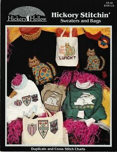 Hickory-Stitchin-039-Sweaters-and-Bags-Cross-Stitch-Hickory-Hollow-DS-58