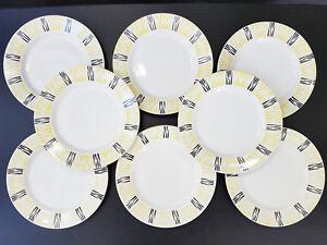 Metallobjekte Gefertigt Nach 1945 Enthusiastic Folge Von 10 Teller Dessert 1950 Vintage Jahre 50 Rockabilly 50s Signiert Fd