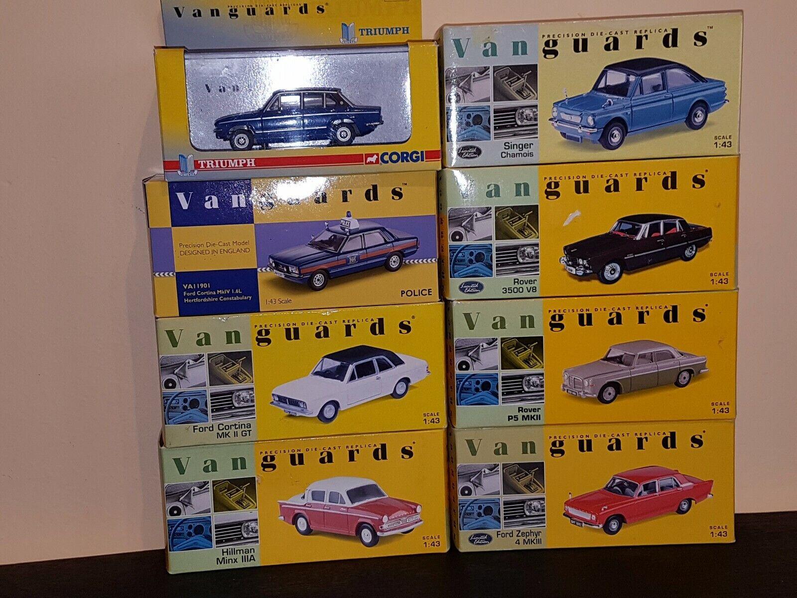 descuento Voiture Miniature Lot de 8 véhicules en boite boite boite Vanguards  marca famosa