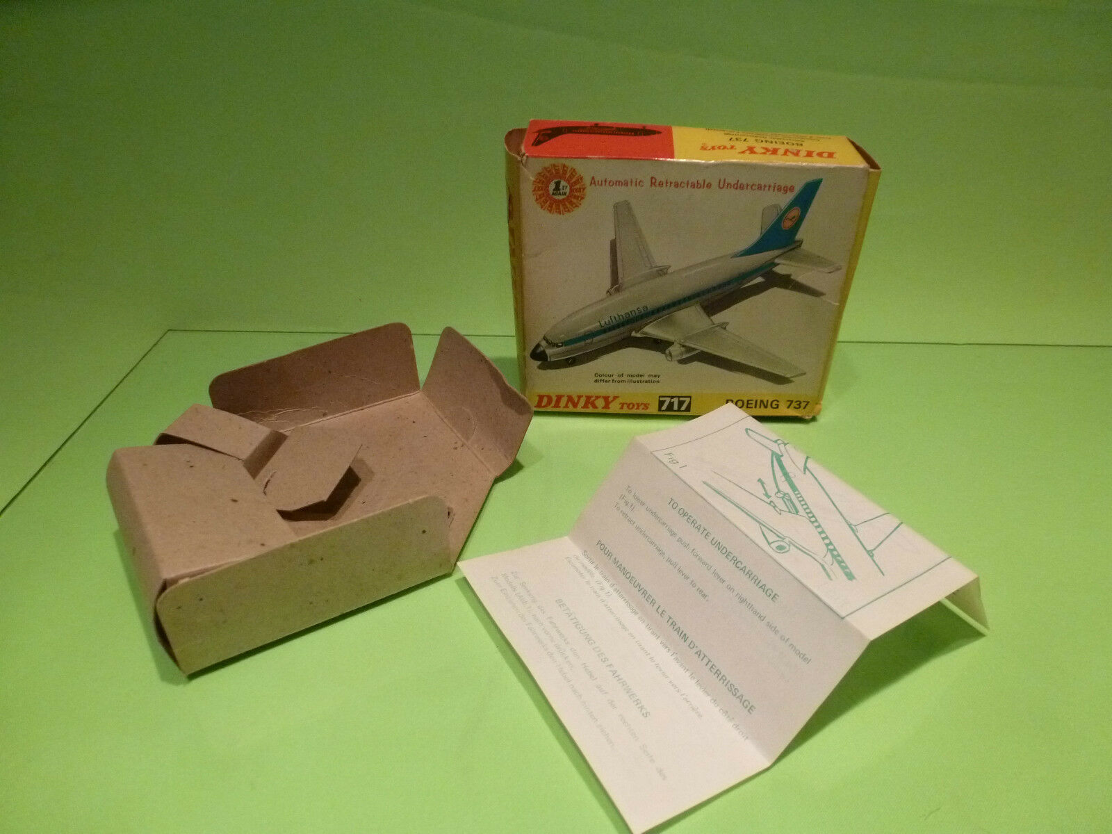 DINKY TOYS BOX for 717  BOEING 737 - LUFTHANSA - RARE SELTEN - ONLY BOX