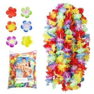 NNDOLL 50_HAWAICOL Collana Hawaiana Hula Leis Fiori, Multicolore, Confezione da 50 pezzi